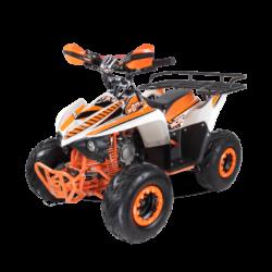 Детский квадроцикл бензиновый MOTAX ATV MIKRO 110 cc бело- оранжевый (пульт контроля, до 50 км/ч)